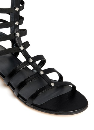 Detail View - Click To Enlarge - Stuart Weitzman - 'Gladiator' knee high caged sandals