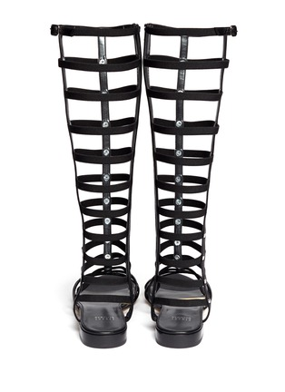 Back View - Click To Enlarge - Stuart Weitzman - 'Gladiator' knee high caged sandals
