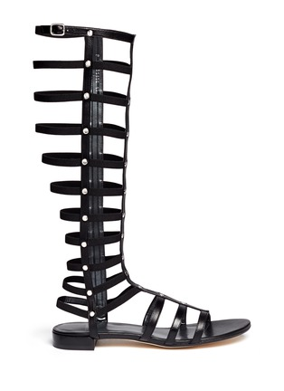 Main View - Click To Enlarge - Stuart Weitzman - 'Gladiator' knee high caged sandals