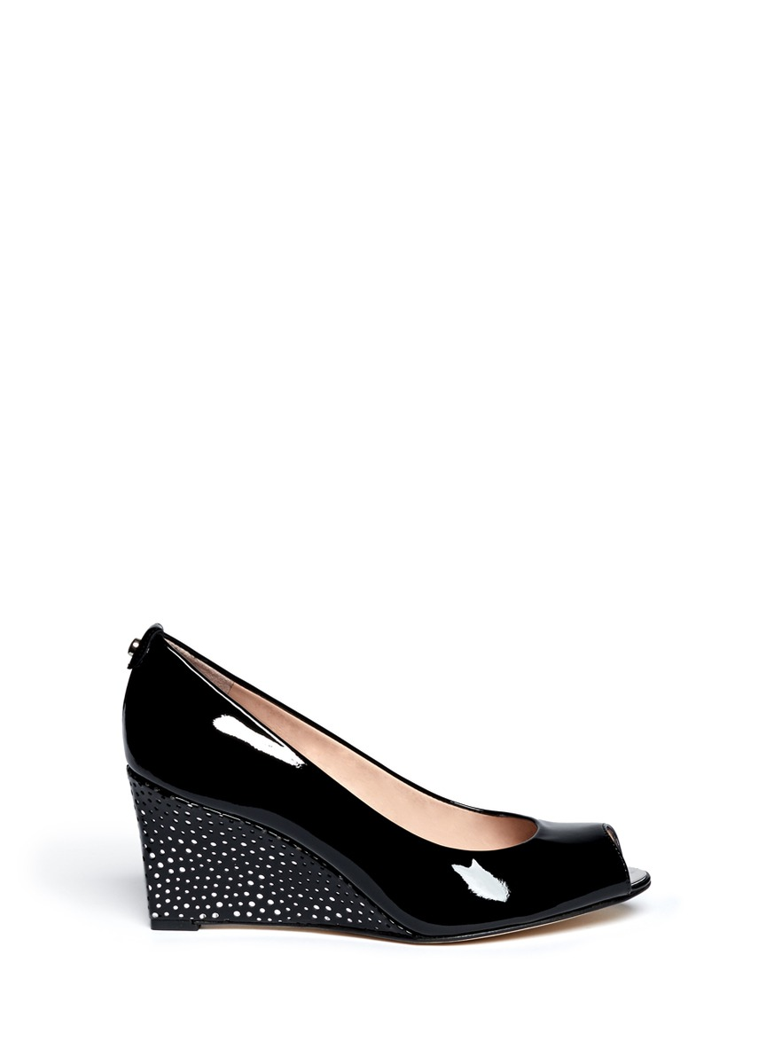 'Loire' perforated panel wedge pumps