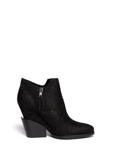 ASH 'Lula' concealed wedge python effect ankle boots