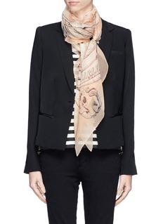 ALEXANDER MCQUEEN'Art Nouveau' skull silk scarf