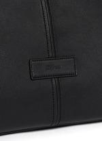 Leather manta carryall bag