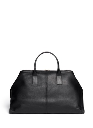 Back View - Click To Enlarge - Alexander McQueen - Leather manta carryall bag