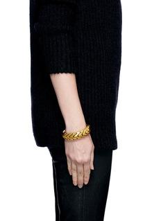 ALEXANDER MCQUEENSnake chain leather bracelet