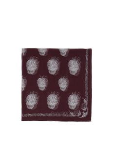 ALEXANDER MCQUEENBird skull silk scarf