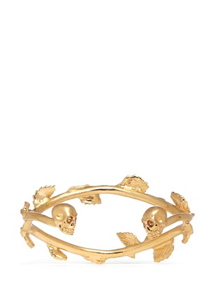 Back View - Click To Enlarge - Alexander McQueen - Skull vine cuff