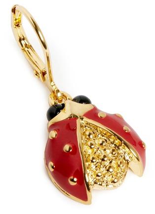 Detail View - Click To Enlarge - Kenneth Jay Lane - Enamel ladybird drop earrings