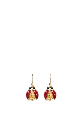 Main View - Click To Enlarge - Kenneth Jay Lane - Enamel ladybird drop earrings