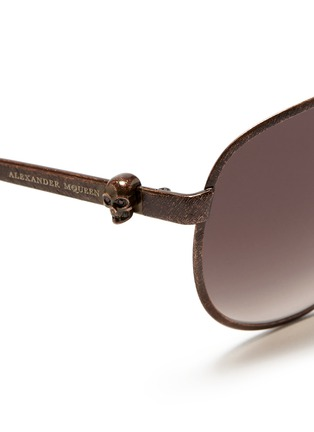 ALEXANDER MCQUEEN-Skull antique metal aviator sunglasses