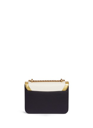 Back View - Click To Enlarge - Gucci - 'Peony' floral faux pearl stud leather chain bag