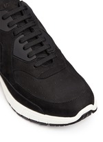 'Urban runner' nubuck leather sneakers