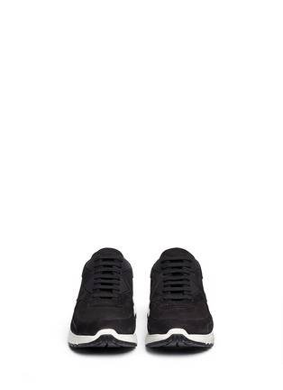Front View - Click To Enlarge - Neil Barrett - 'Urban runner' nubuck leather sneakers
