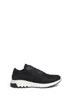 NEIL BARRETT 'Urban runner' nubuck leather sneakers