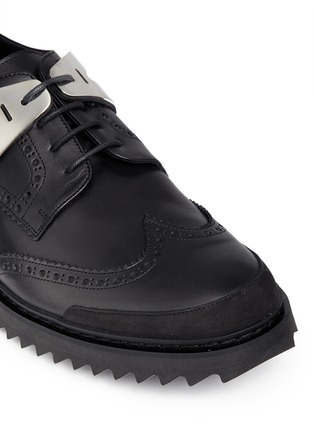Neil Barrett - 'Molecular Hybrid' nubuck trim leather derbies