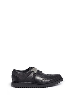 Neil Barrett 'Molecular Hybrid' nubuck trim leather derbies
