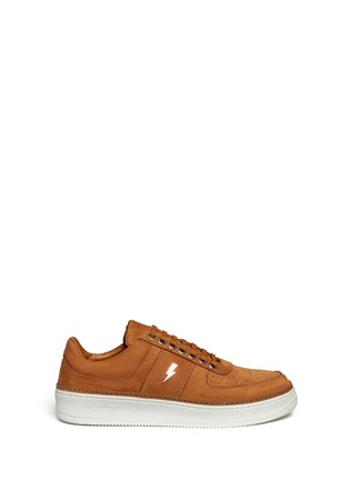 Main View - Click To Enlarge - Neil Barrett - 'City Basketball' low top nubuck leather sneakers