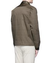 'Mini Heart' print cotton jacket
