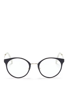 miu miu Round metal optical glasses