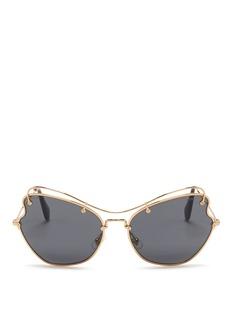 MIU MIU'Scenique' butterfly wave metal sunglasses