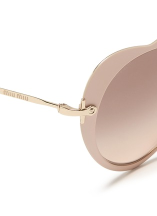 Detail View - Click To Enlarge - miu miu - Matte coated heart metal sunglasses
