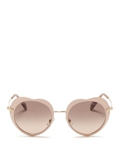 MIU MIU Matte coated heart metal sunglasses