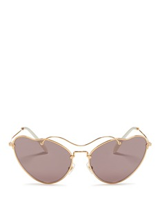 MIU MIU'Scenique' metal wavy cat eye sunglasses