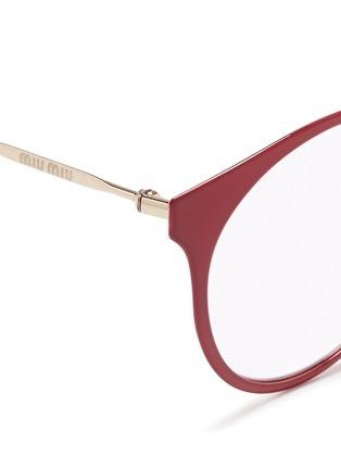 Detail View - Click To Enlarge - miu miu - Round metal optical glasses