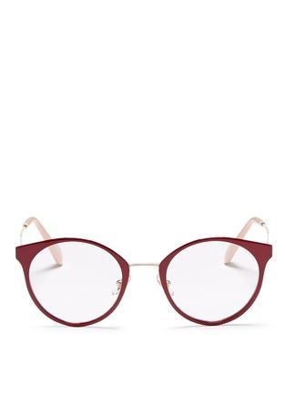 Main View - Click To Enlarge - miu miu - Round metal optical glasses
