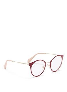 miu miuRound metal optical glasses