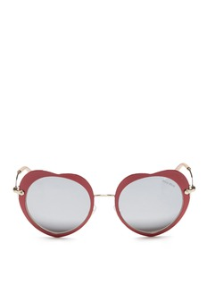 miu miu Coated heart metal sunglasses