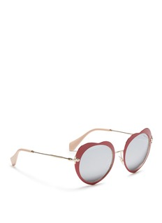 miu miuCoated heart metal sunglasses