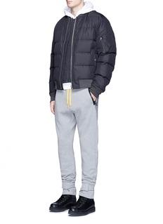 Moncler Capsulex Off-White cuff strap cotton sweatpants