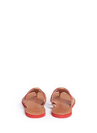 Back View - Click To Enlarge - Ugg Australia - 'Audra' colourblock braided leather sandals