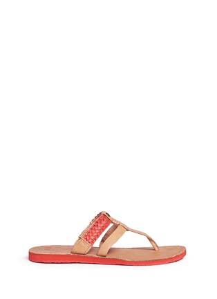 Main View - Click To Enlarge - Ugg Australia - 'Audra' colourblock braided leather sandals
