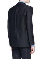 Palm tree sequin wool-Mohair blazer