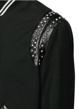 Detail View - Click To Enlarge - Saint Laurent - Stud wool twill teddy jacket