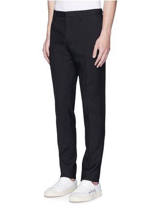 Front View - Click To Enlarge - Saint Laurent - Virgin wool gabardine pants