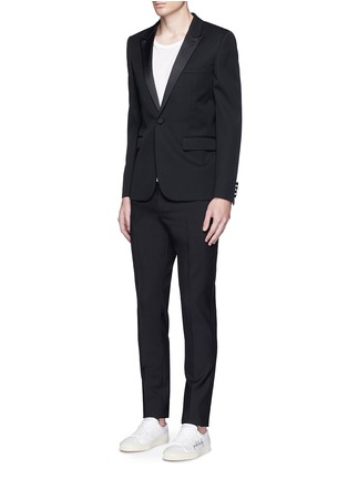 Figure View - Click To Enlarge - Saint Laurent - Virgin wool gabardine pants