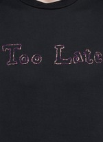 'Too Late' embroidery T-shirt