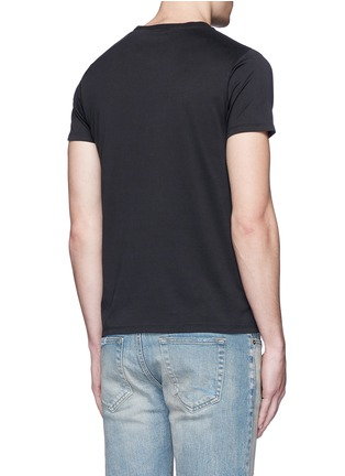 Back View - Click To Enlarge - SAINT LAURENT - 'Too Late' embroidery T-shirt