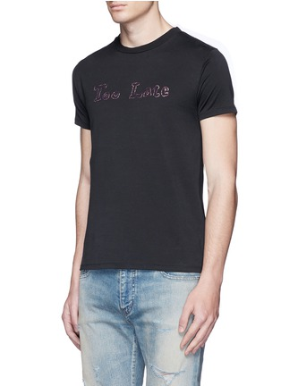 Front View - Click To Enlarge - SAINT LAURENT - 'Too Late' embroidery T-shirt