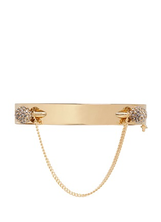 Main View - Click To Enlarge - Chloé - 'Darcey' double crystal pavé sphere hinged bangle