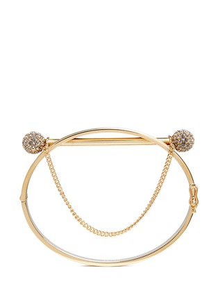Figure View - Click To Enlarge - Chloé - 'Darcey' double crystal pavé sphere hinged bangle