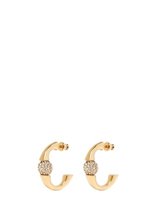 首图 - 点击放大 - CHLOÉ - 'Darcey' Swarovski crystal pavé half hoop earrings