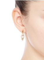 'Darcey' Swarovski crystal pavé half hoop earrings