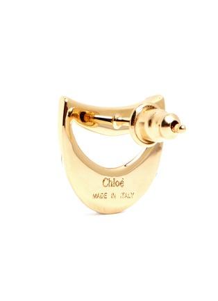 Chloé-'Isalis' crystal pavé crescent moon earrings