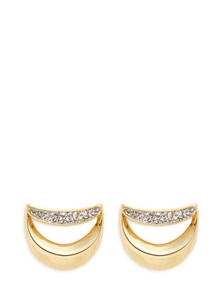 Main View - Click To Enlarge - Chloé - 'Isalis' crystal pavé crescent moon earrings