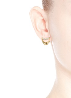 CHLOÉ'Isalis' crystal pavé crescent moon earrings