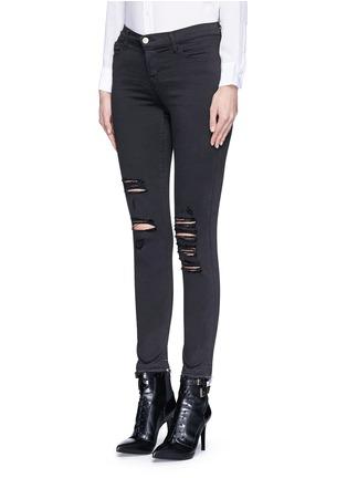 正面 -点击放大 - J BRAND - 'Photo Ready Skinny Leg' distressed jeans